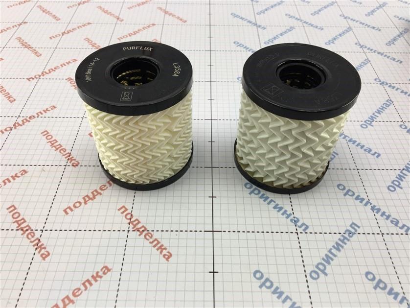 Визуальное отличается плотность фильтрующего элемента.