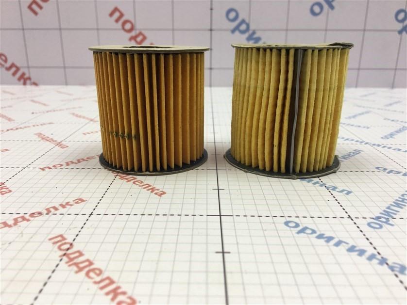 Фильтрующий элемент имеет визуальное отличие цветового оттенка.