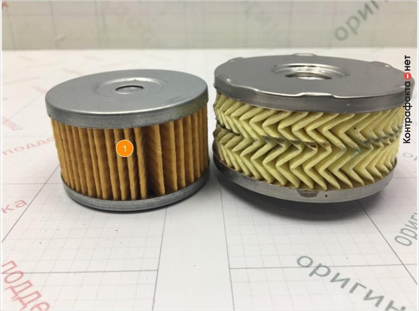 1. Фильтр имеет конструктивное отличие.