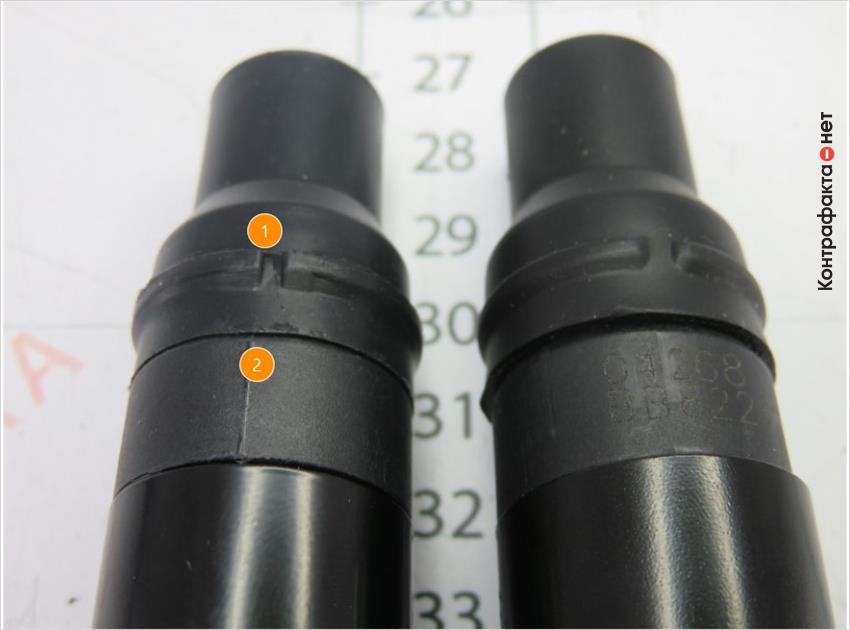 1. Внешняя обработка изоляторы низкого качества. | 2. Не нанесена гравировка.