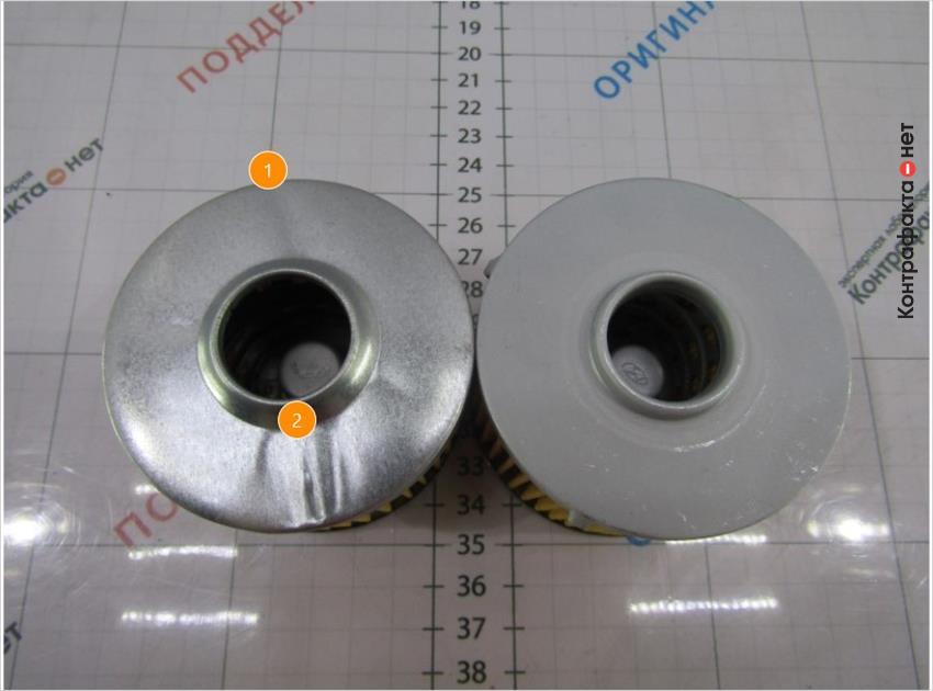 1. Поверхность без защитного покрытия. | 2. Тонкий металл образует волнистость поверхности.
