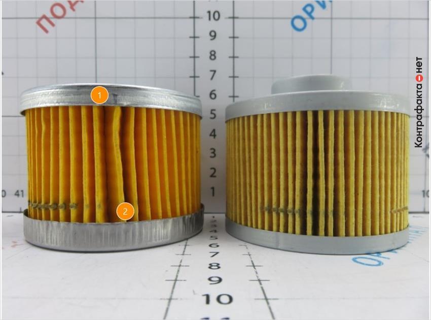1. Количество ламелей не соответствует оригиналу. | 2. Более тонкий металл образует волнистость борта от заданной формы.