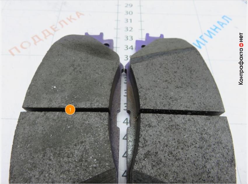 1. Не однородная структура фрикционного материала.