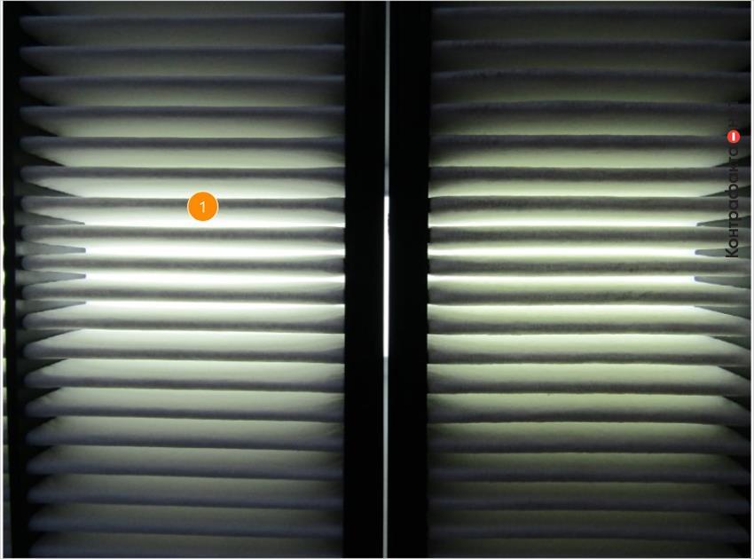 1. Высокое пропускание светового потока подтверждает меньшую плотность фильтрующих ламелей.