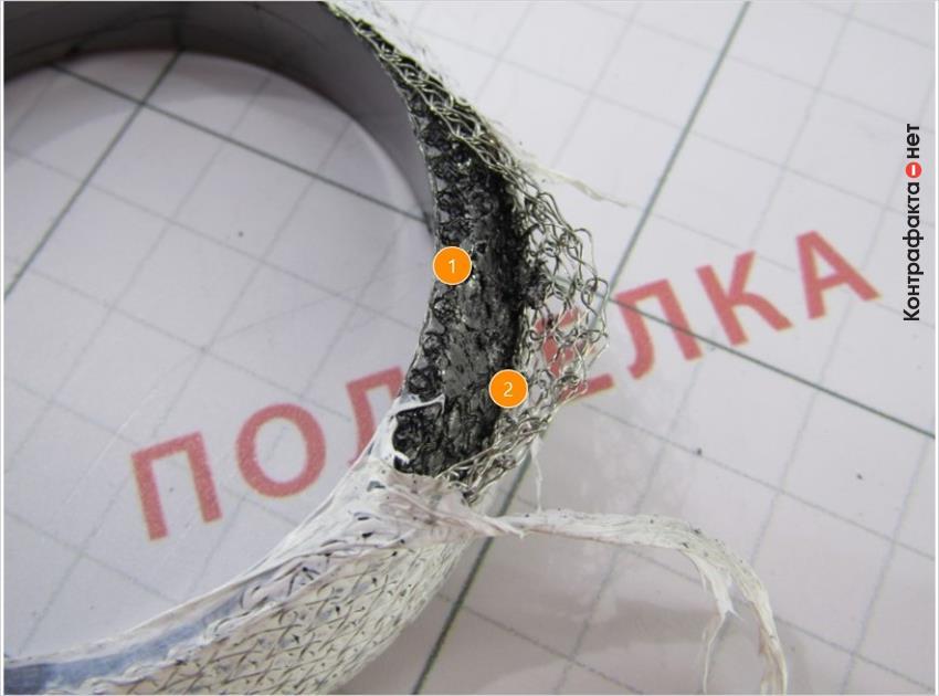 1. Внутреннее строение изготовлено полностью из графита. | 2. Легко отделяется внешнее покрытие и армирующая сетка.