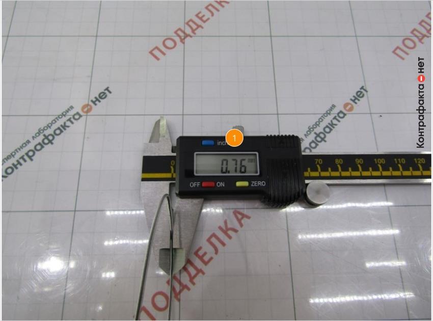 1. Диаметр пружины меньше на 0, 19 мм.