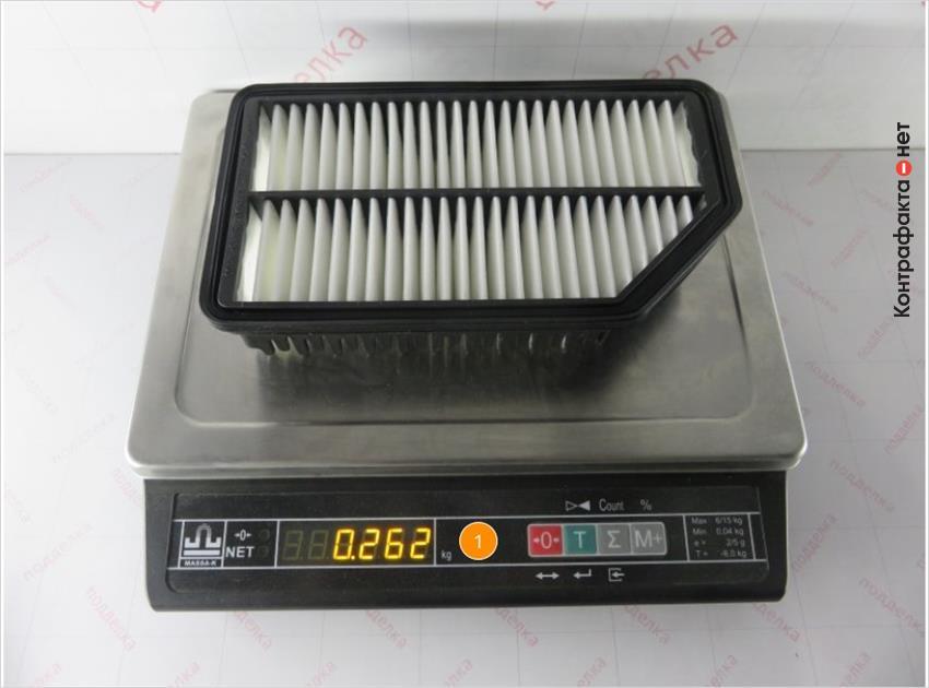 1. Отличается вес фильтра.