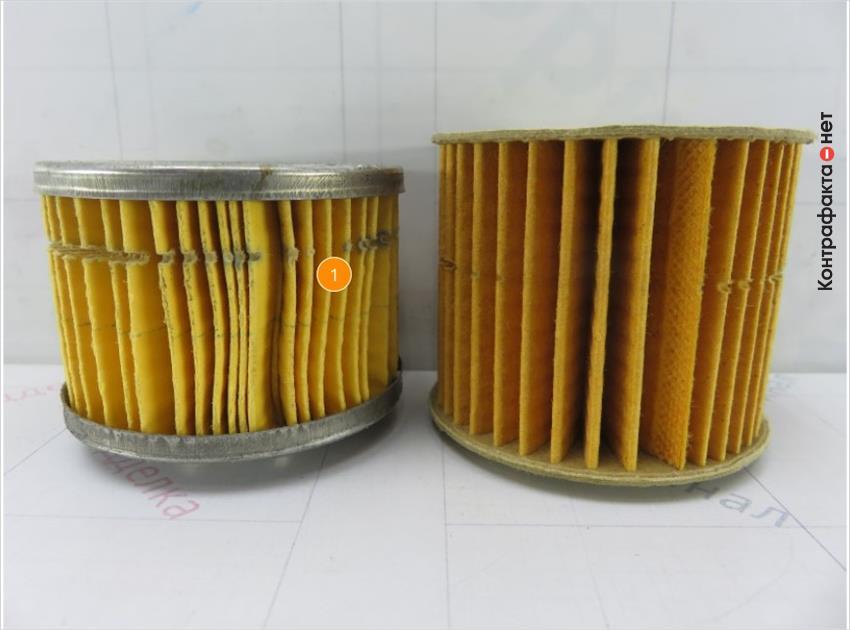 1. Размер и конструкция фильтрующего элемента не соответствует оригиналу.