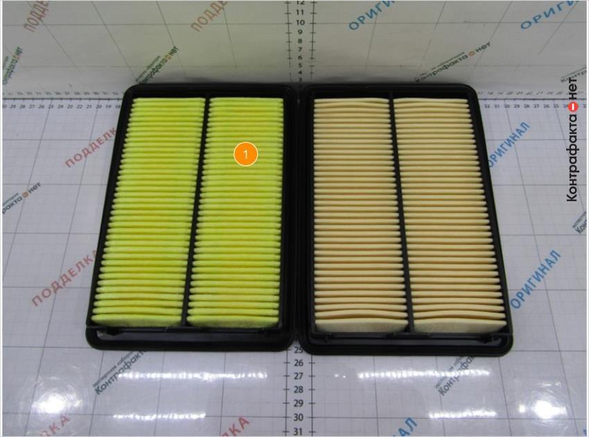 1. Оттенок цвета фильтрующего элемента не соответствует оригиналу.