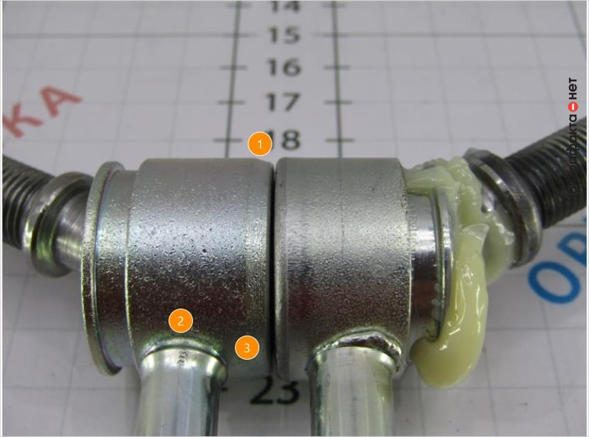 1. Сечение выполнено с большим углом наклона.   2. Используется другая технология соединения штока.   3. Увеличено расстояние от основания шарнира.