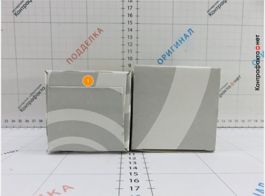 1. Упаковка имеет конструктивное отличие.