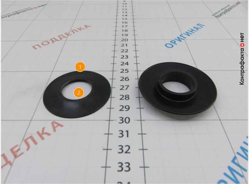 1. Обратный клапан плоской формы. | 2. Размер меньше оригинала.