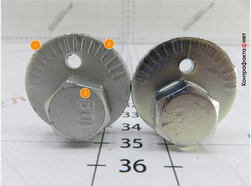 1. Часть меток выполнены не до конца. | 2. Разная форма и расположение меток. | 3. Лишняя маркировка.