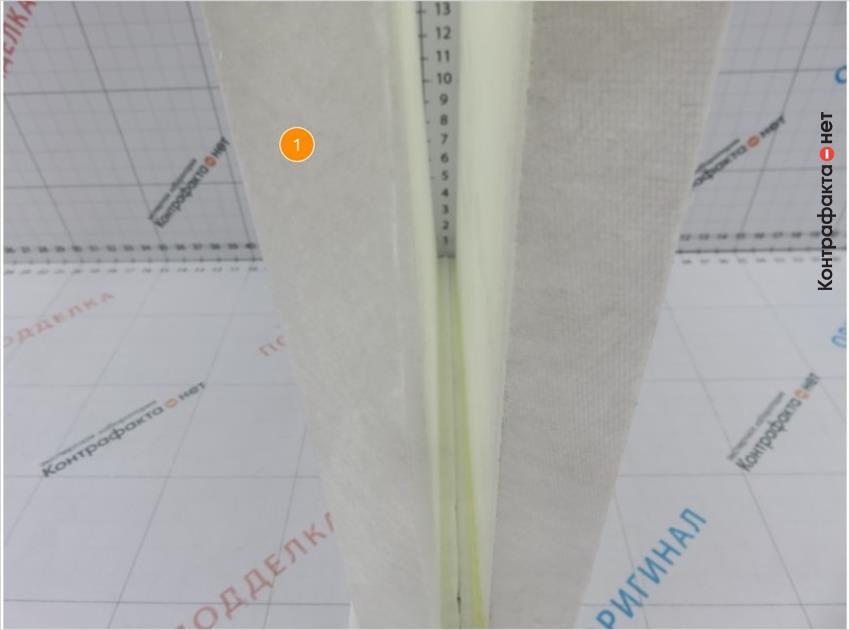 1. Материал и плотность сот фильтрующего элемента не соответствует оригиналу.