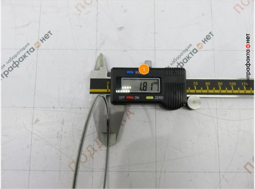 1. Толщина пружины больше на 0, 2мм.