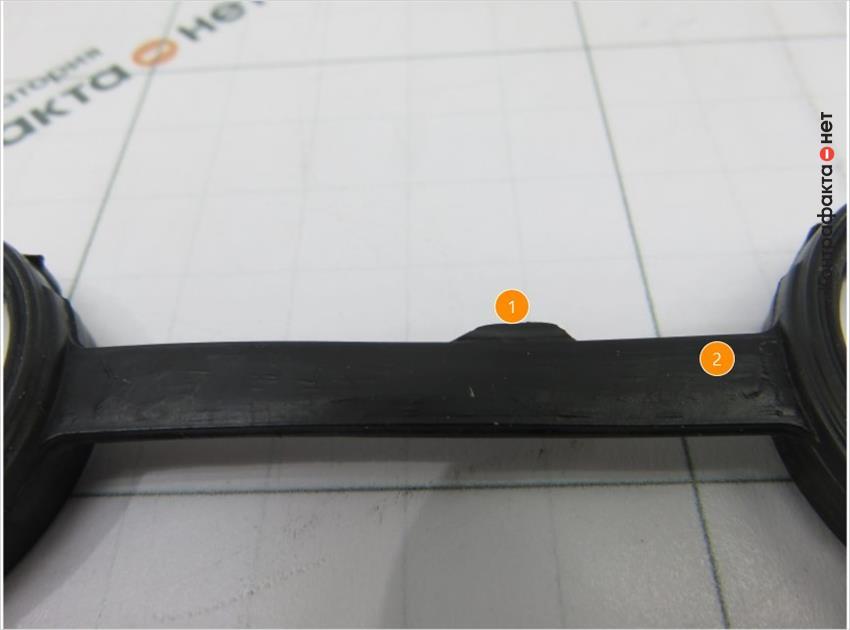 1. Излишки материала. | 2. Низкое качество обработки резины.