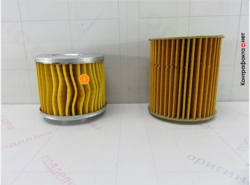 1. Размер и конструкция фильтрующего элемента не соответствуют оригиналу.