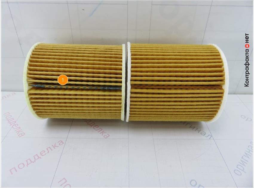 1. В соединении фильтрующего присутствует подтеки клея.