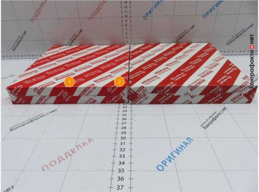 1. Дно коробки другой конструкции. | 2. Коробка короче на 3мм.