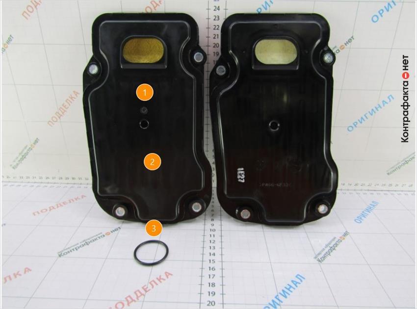 1. Лишний технологический элемент в виде точки.   2. Не нанесены маркировочные обозначения.   3. Фильтр укомплектован уплотнительным кольцом.