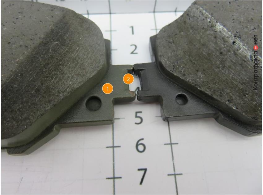 1. Отличается ширина отверстий. | 2. Присутствуют многочисленные дефекты.