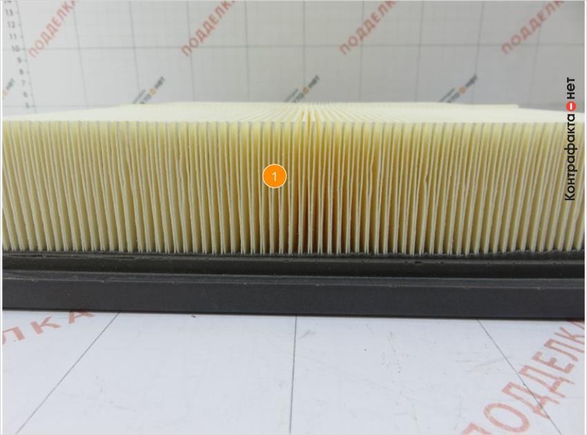 1. Упрощенное строение сот фильтрующего элемента.
