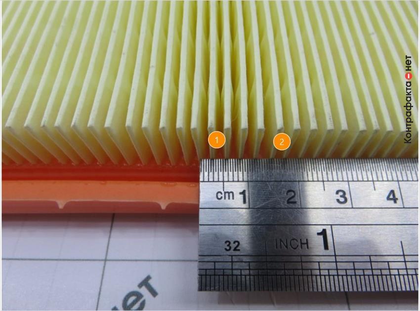 1. Большой отступ между ламелями. | 2. Используется тонкая фильтровальная бумага.