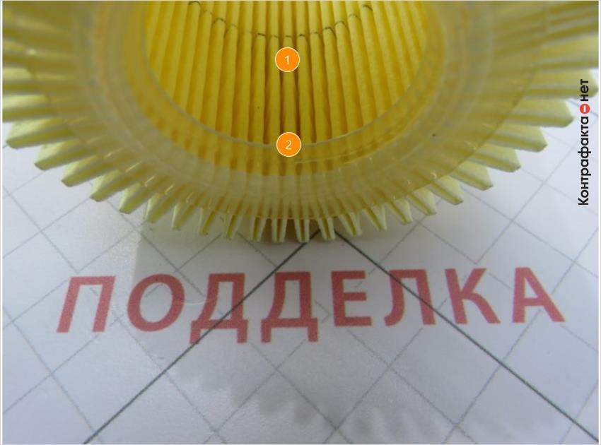 1. Менее плотная фильтровальная бумага. | 2. Внутренняя окружность имеет бортик из клея.