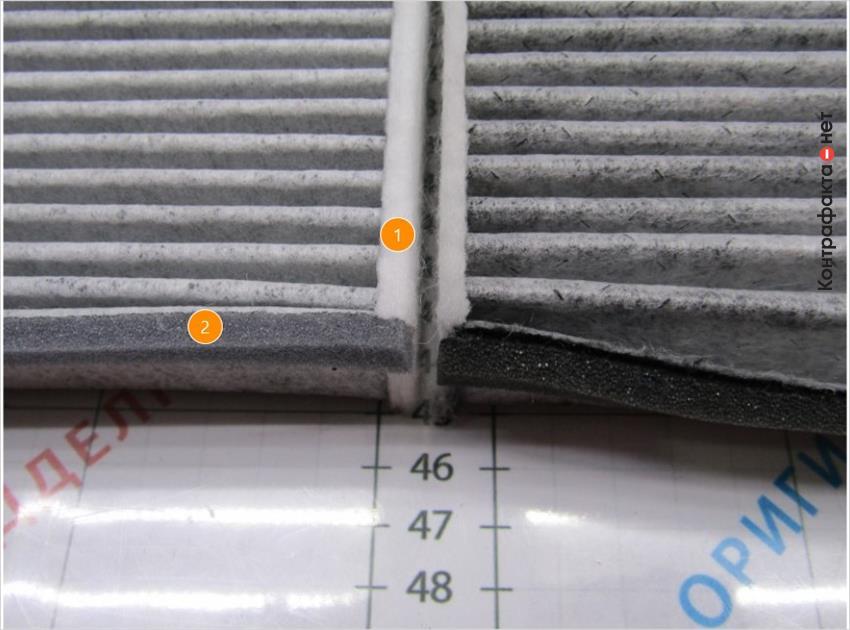 1. Толщина корпуса больше на 1, 5мм. | 2. Уплотнитель серого цвета.