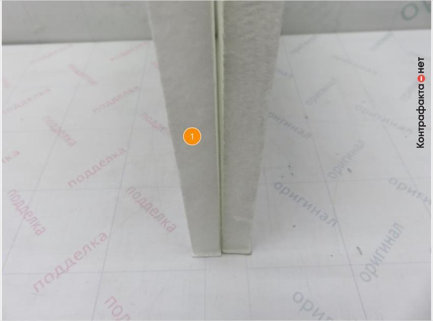 1. Материал и плотность сот фильтрующего элемента не соответствуют оригиналу.