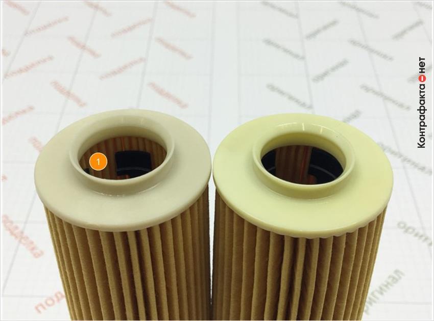 1. Внутренняя часть фильтра припаяна к корпусу и короче.