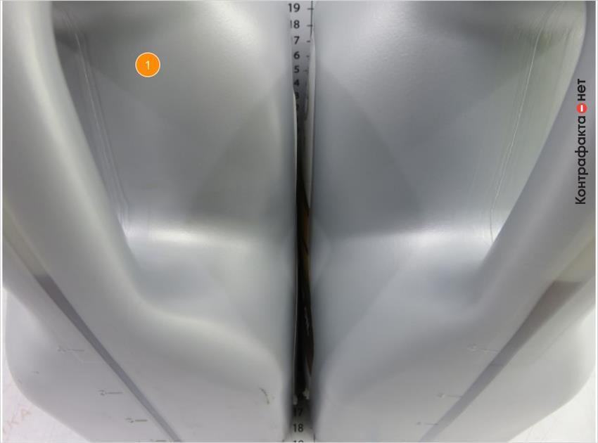 1. Алюминиевый оттенок канистры.