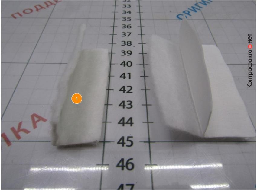 1. Используется однослойный фильтрующий материал.