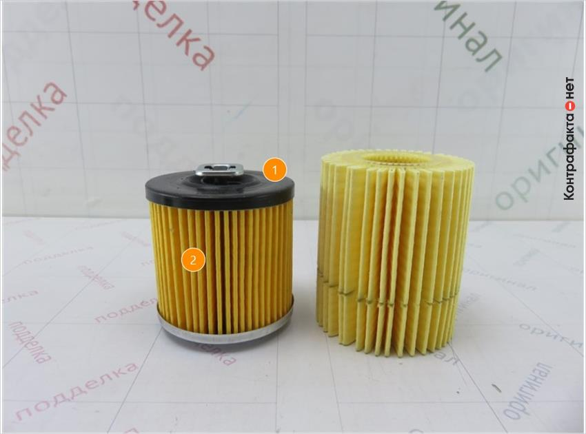 1. Отличается размер и конструкция фильтрующего элемента. | 2. Отличается цвет.