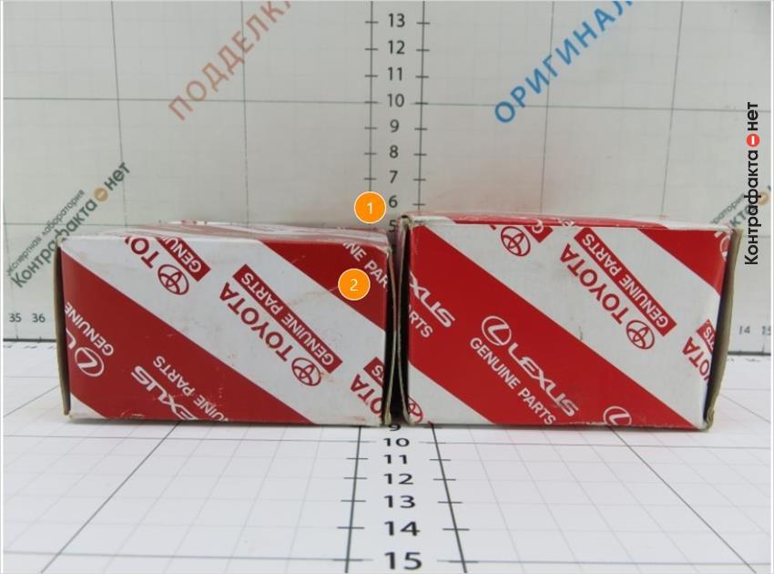 1. Упаковка меньшего размера.   2. Оттенок полиграфии не соответствует оригиналу.