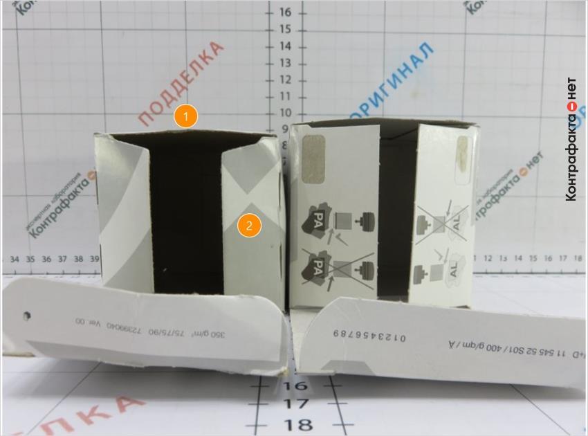1. Упаковка меньшего размера.   2. Не нанесена инструкция на клапана коробки.