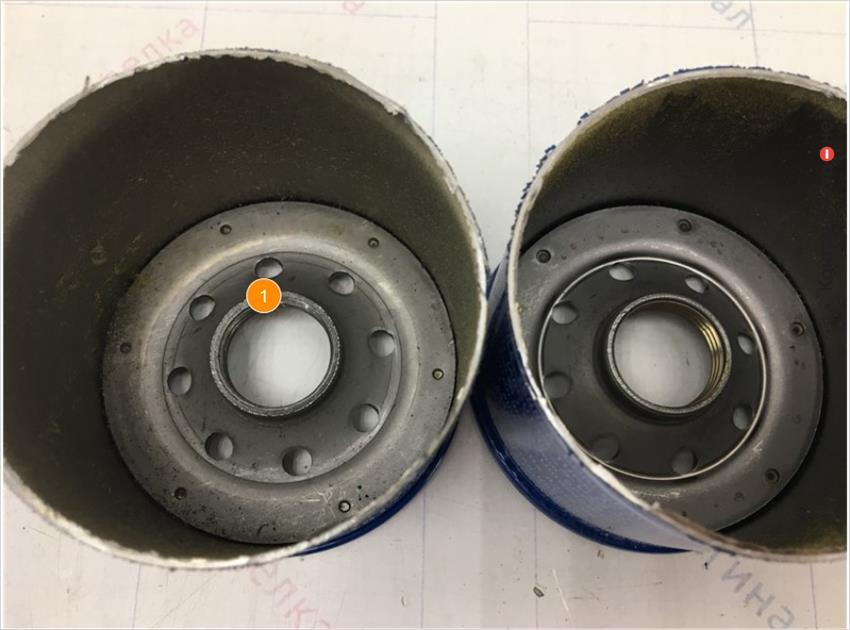 1. Отсутствует обработка внутренней резьбовой части.