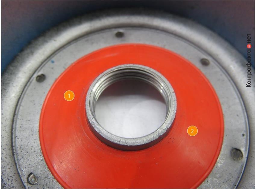 1. Плоский обратный клапан. | 2. Сигнальный оранжевый цвет.