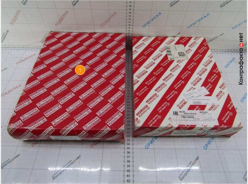 1. Габариты упаковки больше оригинала.