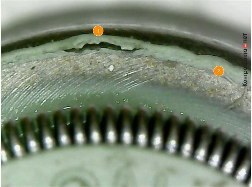 1. Отслоение резины от металлического основания. | 2. Не нанесены технологические элементы.