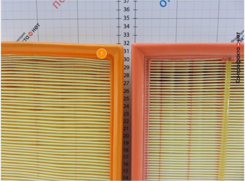 1. Отличается размер фильтров.