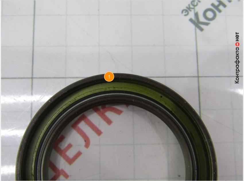1. Внутренний оттенок сальника не соответствует оригиналу.