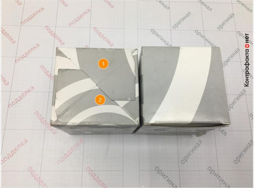 1. Упаковка имеет конструктивное отличие.   2. Отличается оттенок цвета полиграфии.