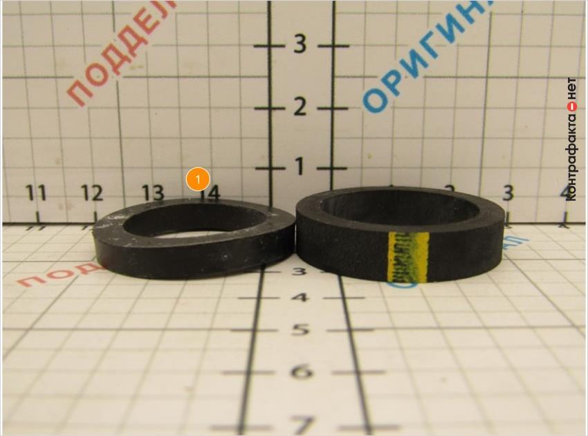 1. Прокладка меньшего диаметра, искривленной формы.