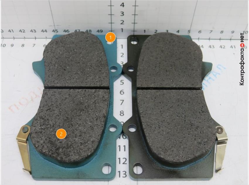 1. Отсутствует черное напыление. | 2. Менее однородный слой фрикционной накладки.