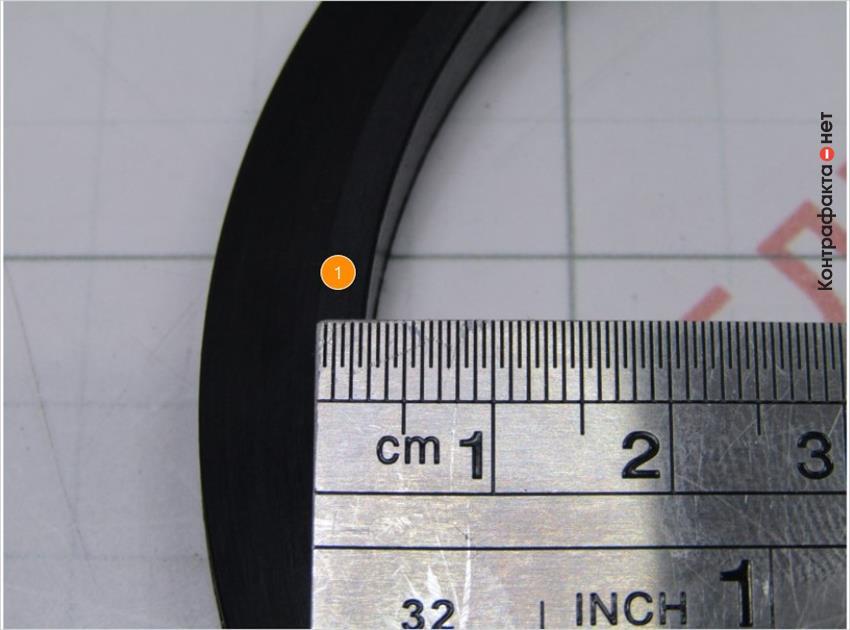 1. Рабочая поверхность прокладки меньше на 2мм.