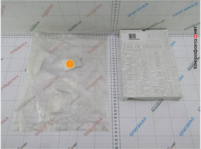 1. Фильтр упакован в полиэтиленовый пакет.