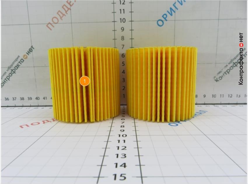 1. В фильтре использована 51 ламель, в оригинале 45.