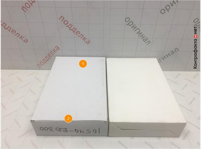 1. Отличается оттенок цвета упаковки. | 2. Упаковка имеет конструктивное отличие.