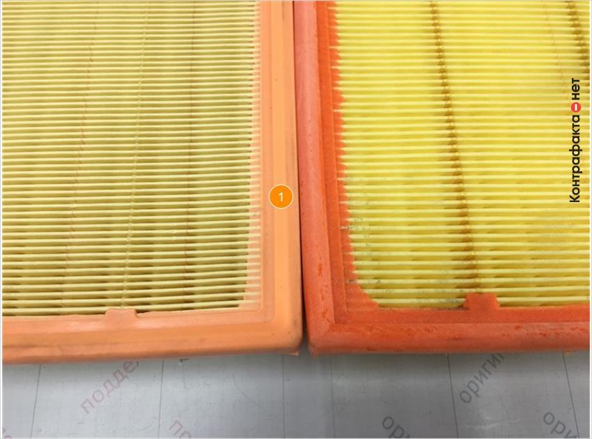 1. Отличается оттенок цвета и упругость полиуретановой окантовки.